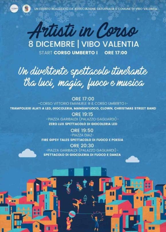 8 Dicembre 2018 - Artisti in Corso -  Un evento realizzato da Associazione Saturnalia e Comune di Vibo Valentia.