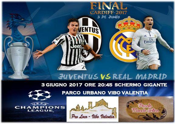 Real Madrid vs Juventus con maxi-schermo - 3 Giugno -  dalle ore 20:45 - Parco Urbano