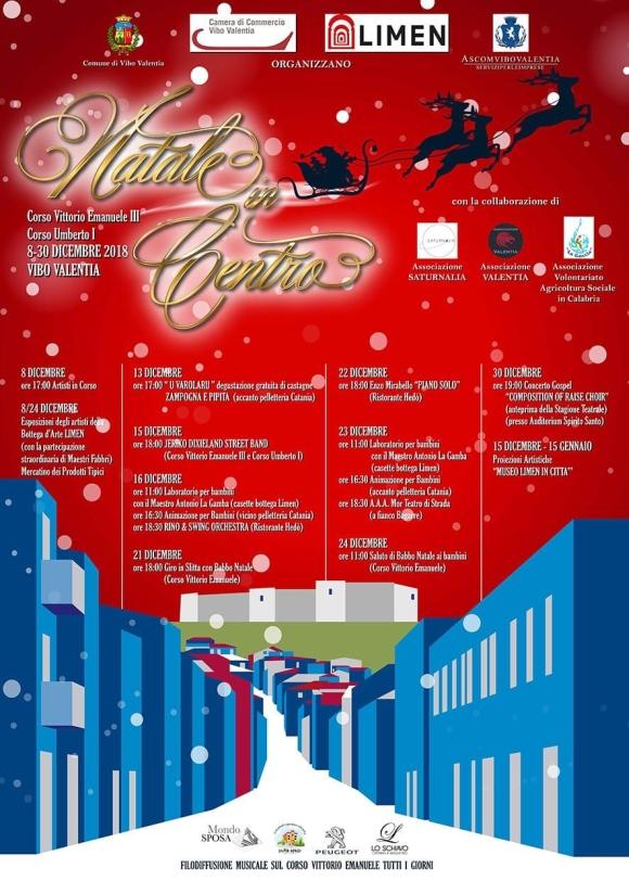 Natale in Centro - Corso Vittorio Emanuele III - Corso Umberto I - 8-30 Dicembre 2018 - Vibo Valentia