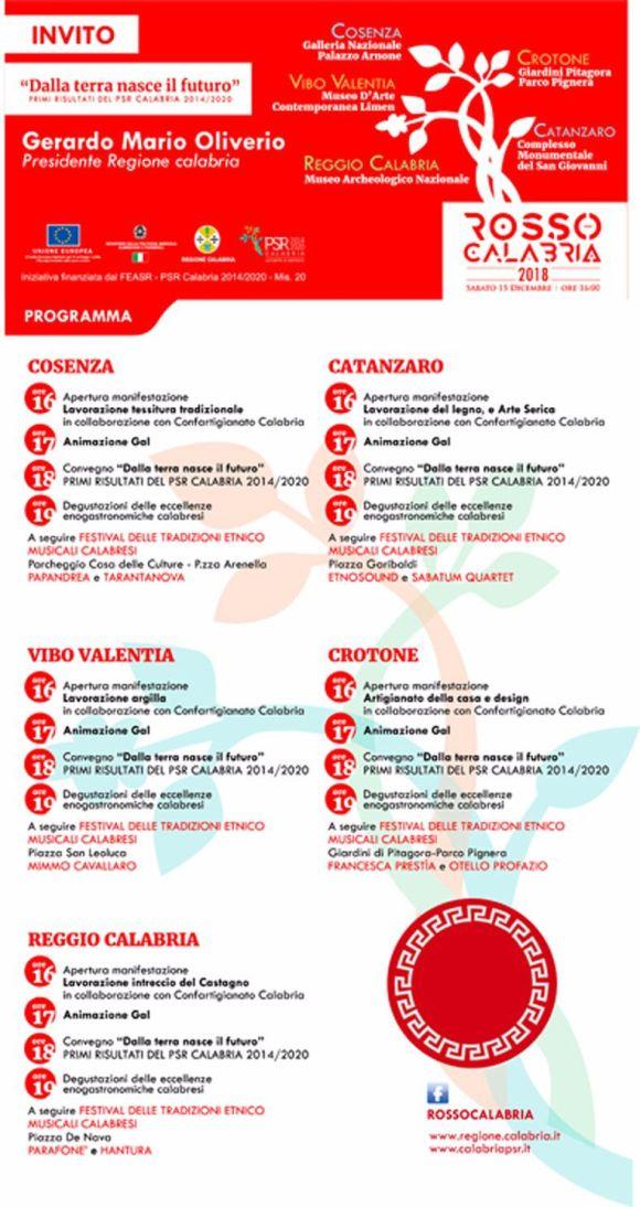 Rosso Calabria 2018 - Sabato 15 Dicembre ore 16:00