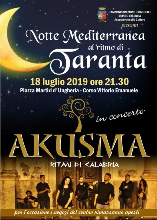 La notte della Taranta - 18-07-2019 ore 21,30 Piazza Martiri D'ungheria - Corso Vittorio Emanuele Vibo Valentia