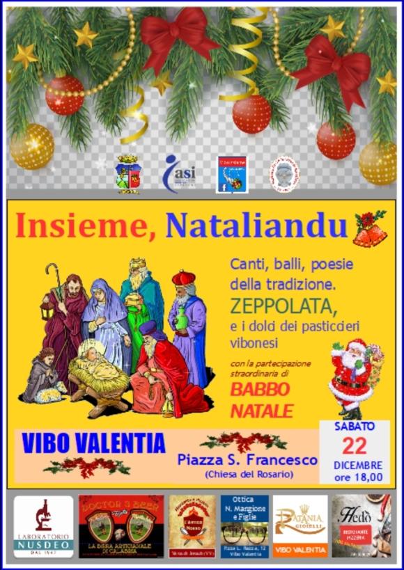 Insieme, Nataliandu 22 Dicembre 2018  ore 18,00 Piazza San Francesco (Chiesa del Rosario) Vibo Valentia